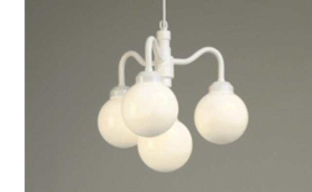 Where to find 4 Globe White Chandelier with 8  Globes in Corvallis