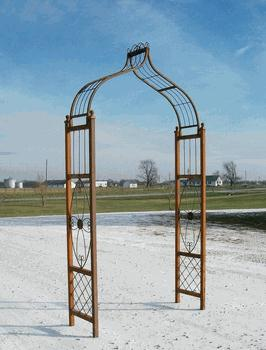 Where to find Iron - Medallion Flower Arbor in Corvallis