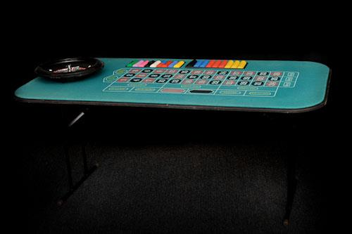 Where to find Roulette Table - chips, wheel   ball in Corvallis