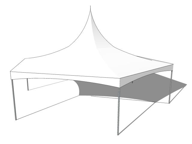 40 Foot X 35 Foot White Hi Peak Hexagon Tent Rentals