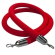 Rental store for Velour Rope, Red with Chrome Hook in Corvallis OR