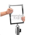 Rental store for Chrome Stanchion Vertical Sign Holder in Corvallis OR