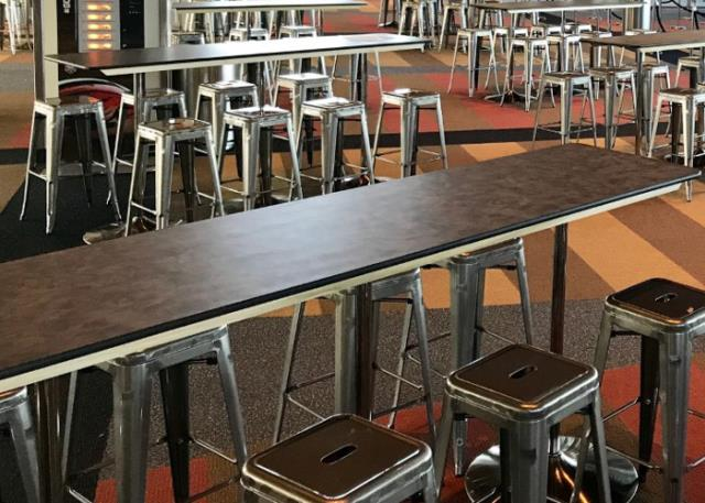 Where to find Pewter Metal Laminate Tables in Corvallis