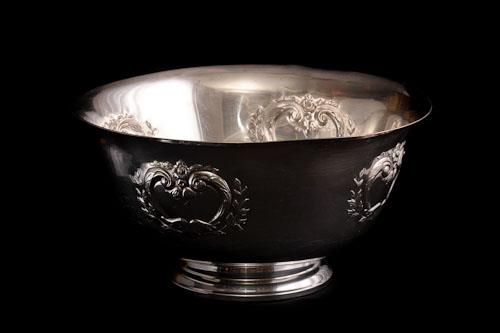 Where to find Punch Bowl - Silver w  Hearts in Corvallis